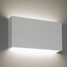 1325005 Rio 325 15.1w LED 2770k Single Light Ceramic Wall Fitting In White Finish