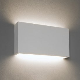 1325009 Rio 325 16.4w LED Single Light Ceramic Wall Fitting In 2700k White Finish