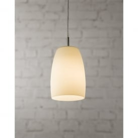1347002 Nevada 150 Single Light Ceiling Pendant In Polished Chrome And Opal Glass Finish