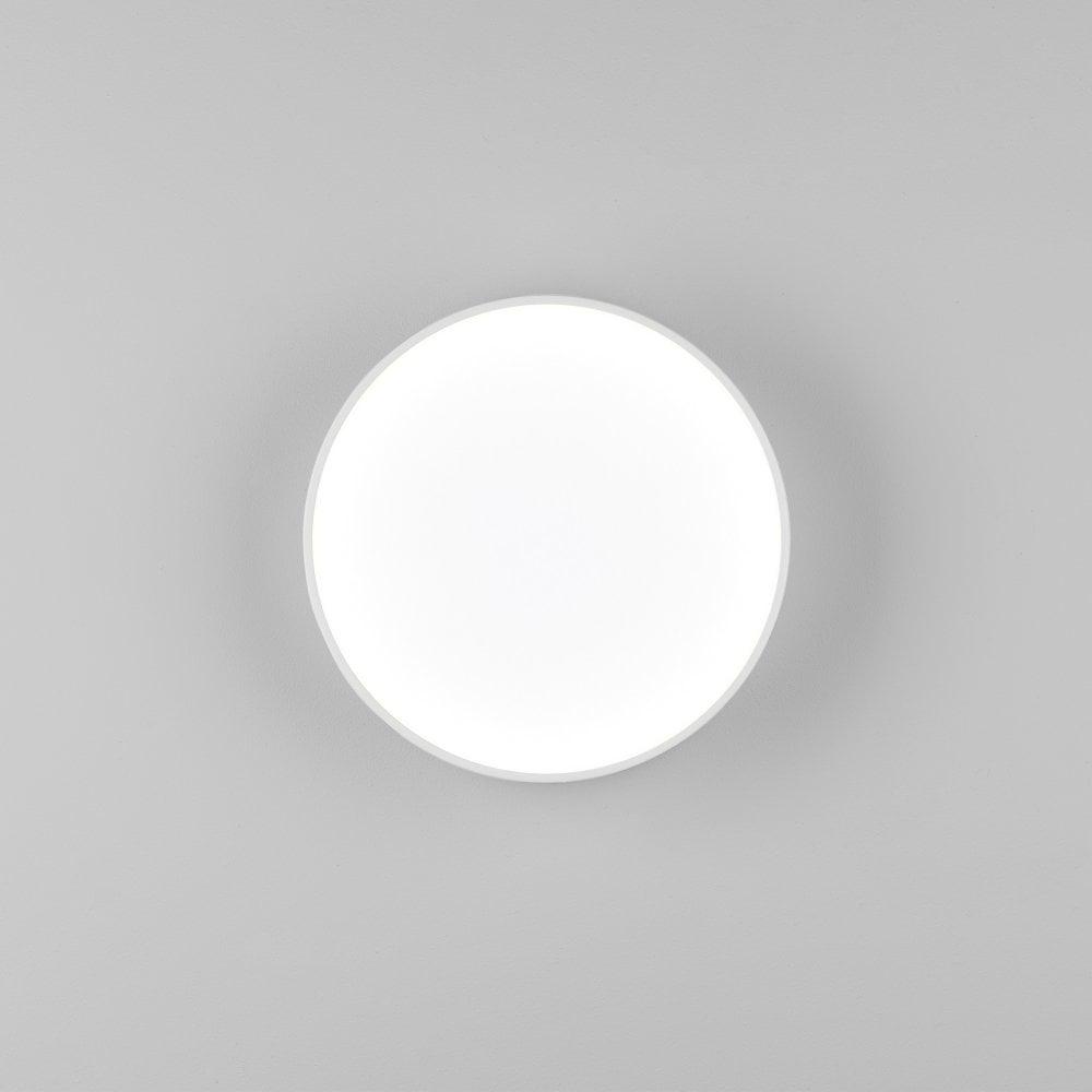 Astro Lighting 1391003 Kea 250 12 6w Integrated Led Round Flush Bathroom Wall Or Ceiling Light In White Finish Castlegate Lights