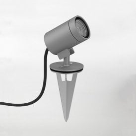 1401008 Bayville Single Light LED Ground Spike Spot Light In Textured Grey Finish