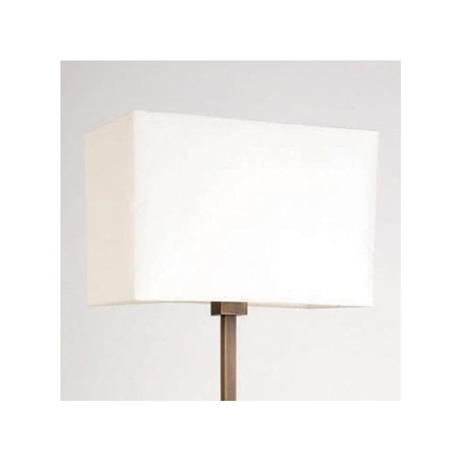5001002 Park Lane White Rectangular Shade For Floor Lamp