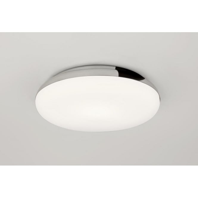Altea single light flush bathroom ceiling fitting in polished chrome