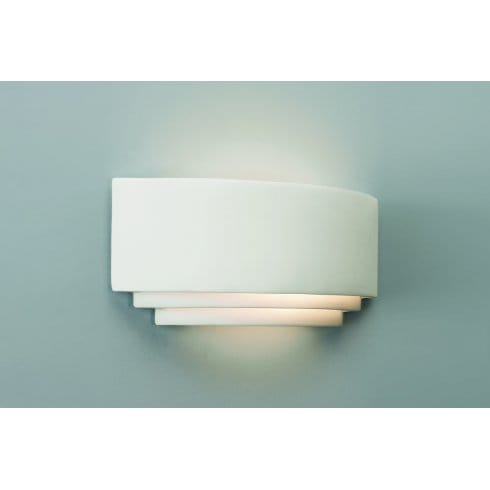 Amalfi Ceramic Wall Lights : Astro Lighting Amalfi Plus 370 Low Energy Single Light Ceramic Wall Fitting In White Finish ...