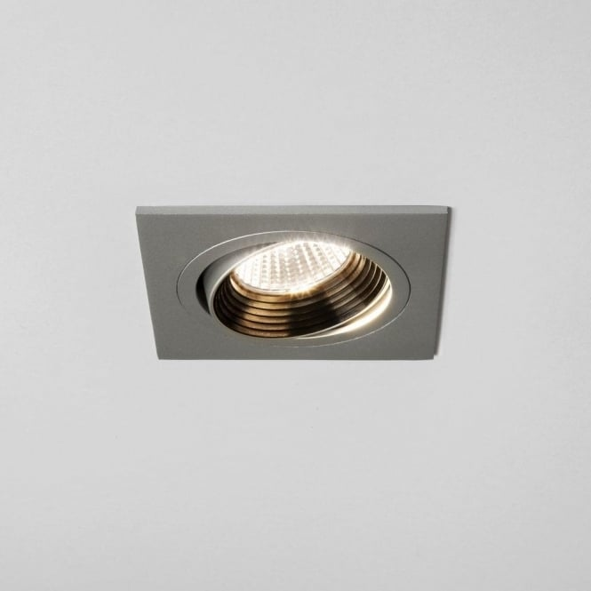 Astro Lighting Aprilia Single Light Square Design Recessed Adjustable LED Fitting in Painted Silver Finish