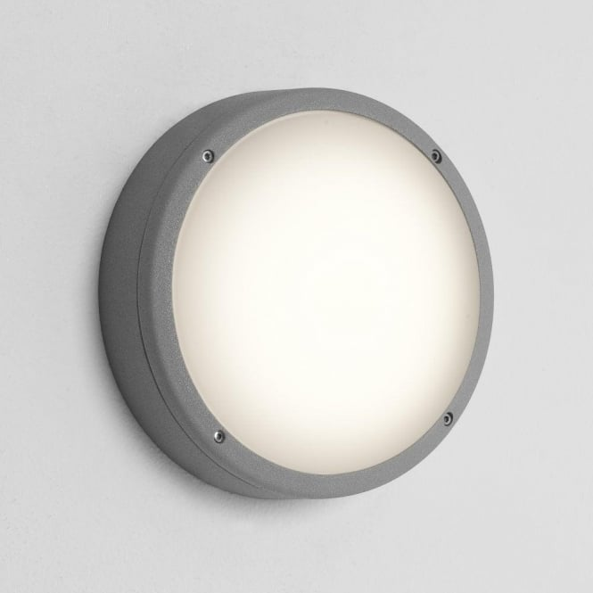 Astro Lighting Arta 275 Round 2 Light Low Energy Bathroom Wall Fitting in Painted Silver Finish