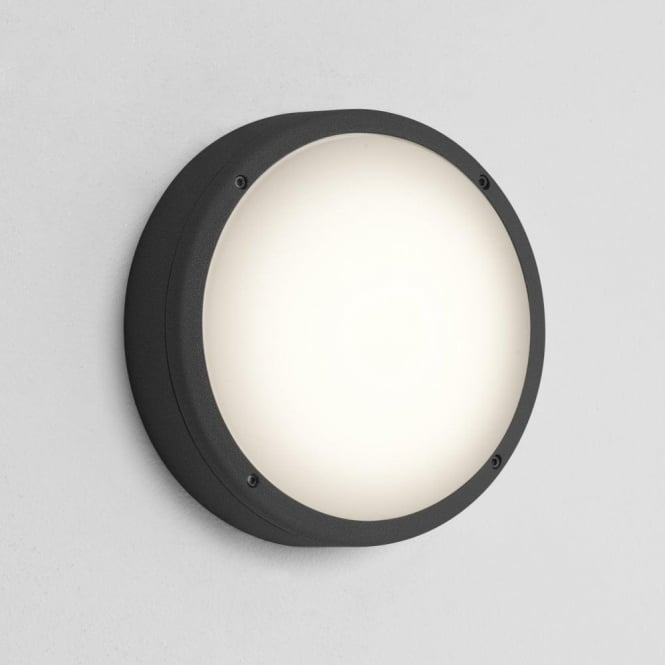Astro Lighting Arta 275 Round 2 Light Low Energy Outdoor Wall Fitting In Black Finish