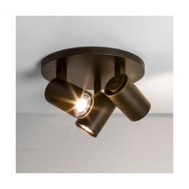 Ascoli 3 Light Round Spotlight in Bronze Finish (Dimmable)