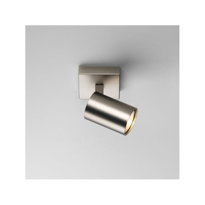 Astro Lighting Ascoli Single Switched Halogen Wall or Ceiling Spotlight in Matt Nickel Finish ...