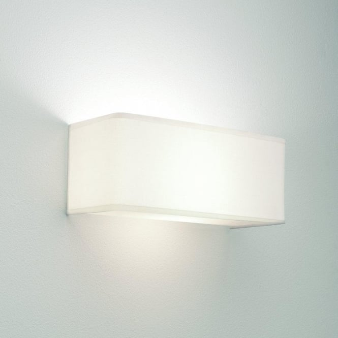 Astro Lighting Ashino Wide Single Light Wall Fitting in White Finish