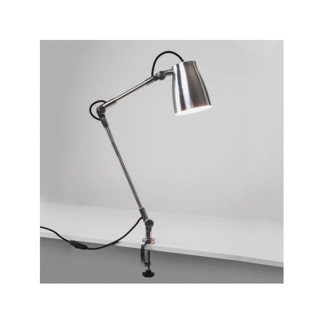 Astro Lighting Atelier Single Light Arm Assembly Fitting In Polished Aluminium Finish