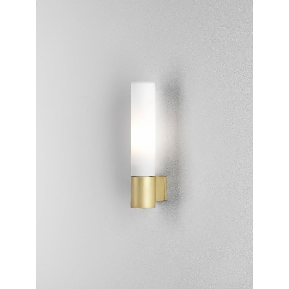 Astro lighting bari single light halogen bathroom fitting for Gold bathroom wall lights
