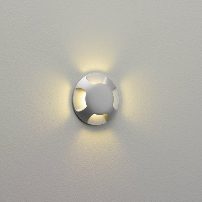 Astro Lighting Beam LED 4 Light Outdoor Wall or Ground Fitting In Painted Silver Finish