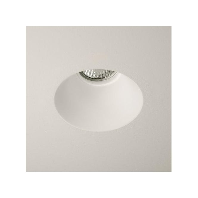 Astro Lighting Blanco Round Single Light Halogen Recessed Ceiling Fitting In Ceramic White Finish