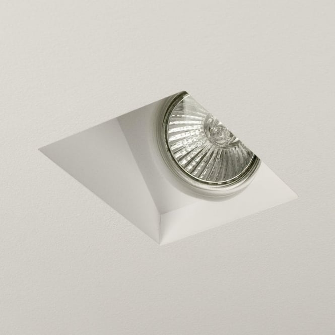 Astro Lighting Blanco Single Light Halogen Recessed Ceiling Fitting In Ceramic White Finish