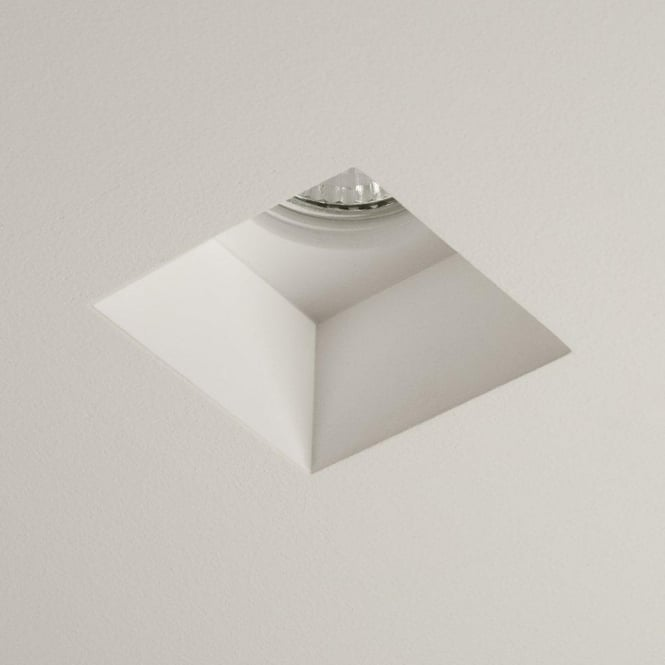 Astro Lighting Blanco Square Single Light Halogen Recessed Ceiling Fitting In Ceramic White Finish