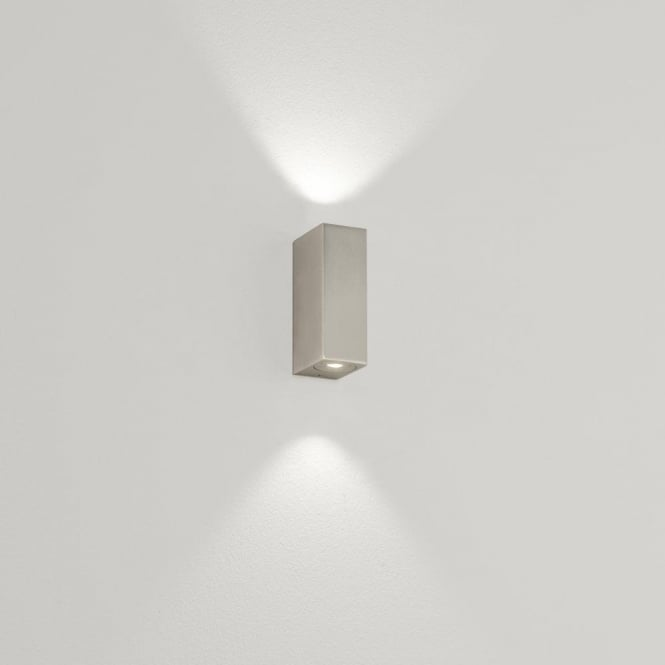 Astro Lighting Bloc 2 Light LED Bathroom Wall Fitting In Matt Nickel Finish