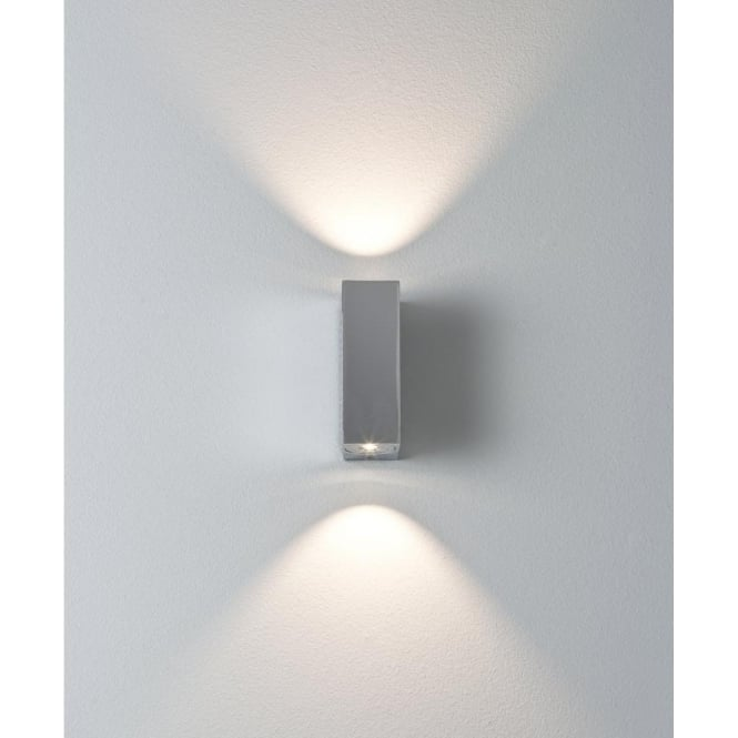 Astro Lighting Bloc 2 Light LED Bathroom Wall Fitting In Polished Chrome Finish