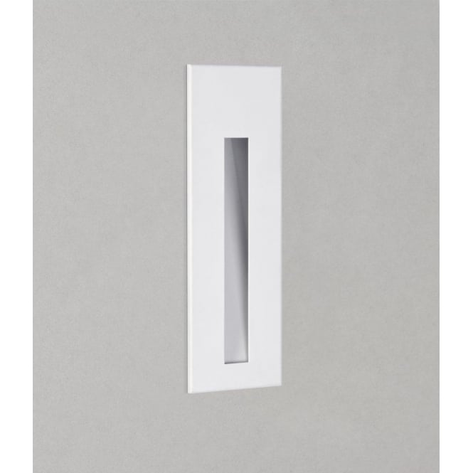 Astro Lighting Borgo 55 Single Light LED Recessed Wall Fitting In White Finish