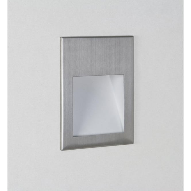 Astro Lighting Borgo 90 Single Light LED Recessed Wall Fitting In Brushed Stainless Steel Finish
