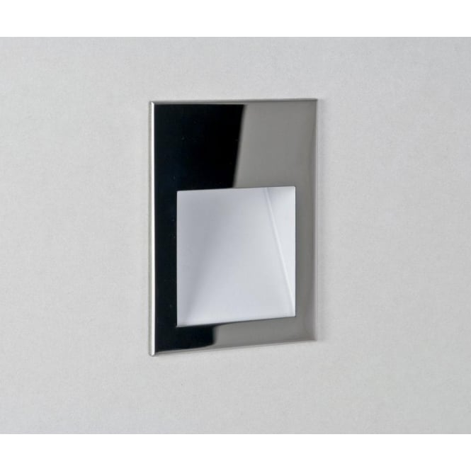 Astro Lighting Borgo 90 Single Light LED Recessed Wall Fitting In Polished Chrome Finish