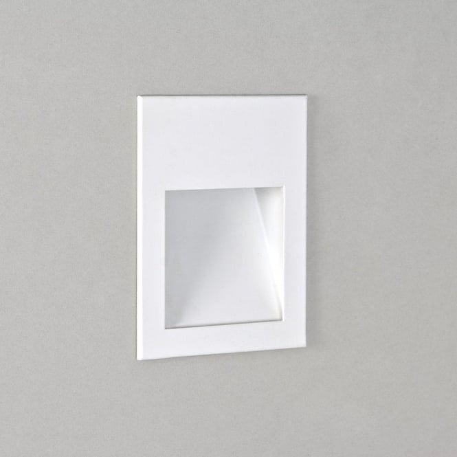 Astro Lighting Borgo 90 Single Light LED Recessed Wall Fitting In White Finish