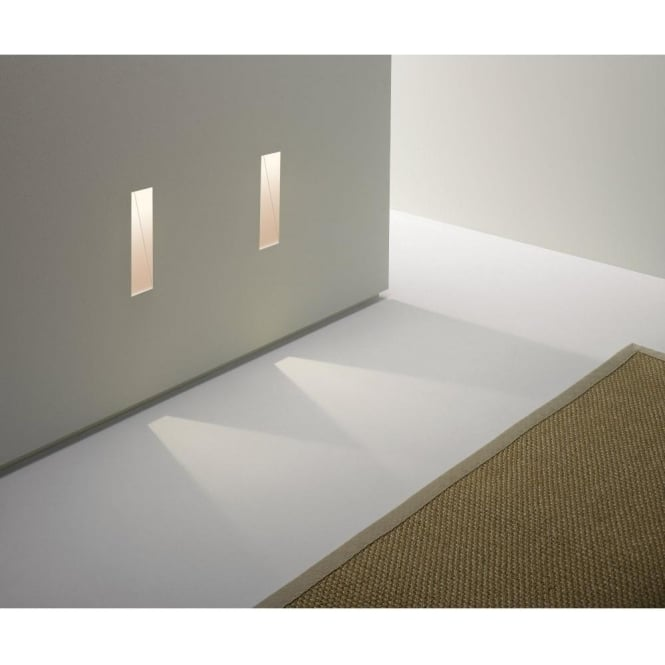 Astro Lighting Borgo Trimless 35 Single Light LED Recessed Wall Fitting In White Finish
