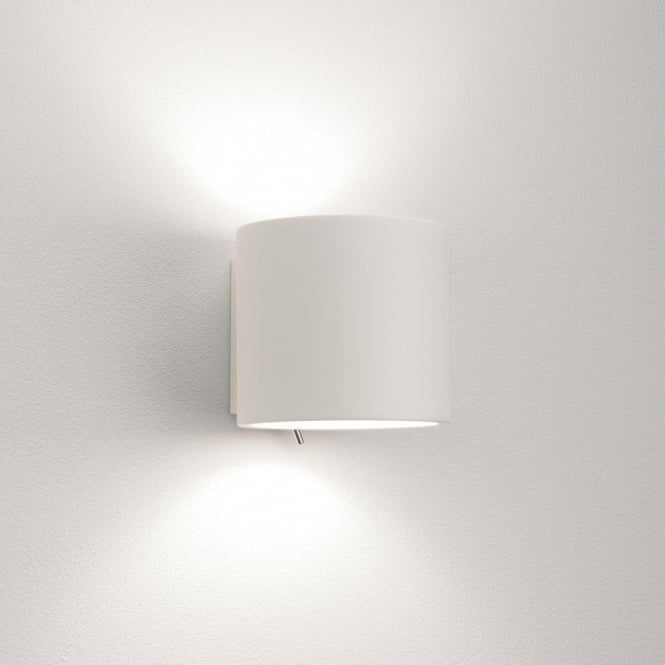 Astro Lighting Brenta 130 Single Light Switched Ceramic Wall Fitting In White Finish