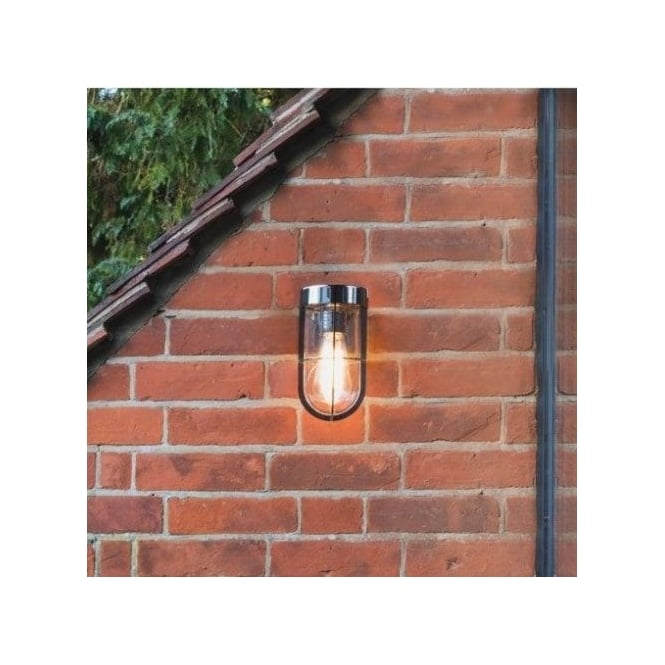 Astro Lighting Cabin Single Light Outdoor Wall Fitting In Polished Nickel Finish