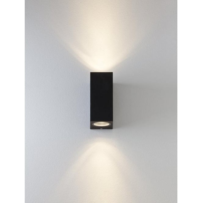 Astro Lighting Chios 150 LED 2 Light Outdoor Wall Fitting In Black Finish