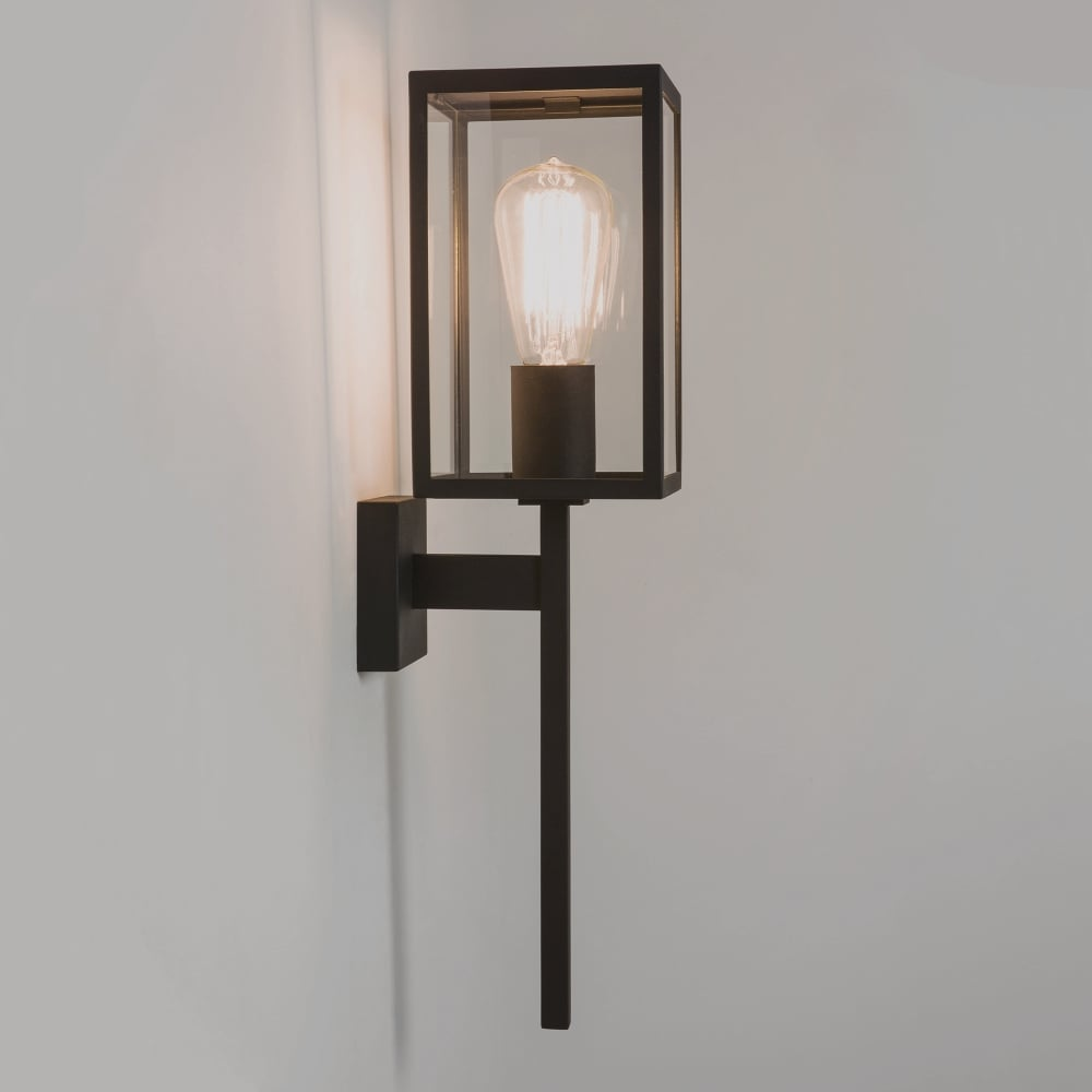 Lantern Type Wall Lights : Astro Lighting Coach Single Light Exterior Wall Lantern in Black Finish - Lighting Type from ...