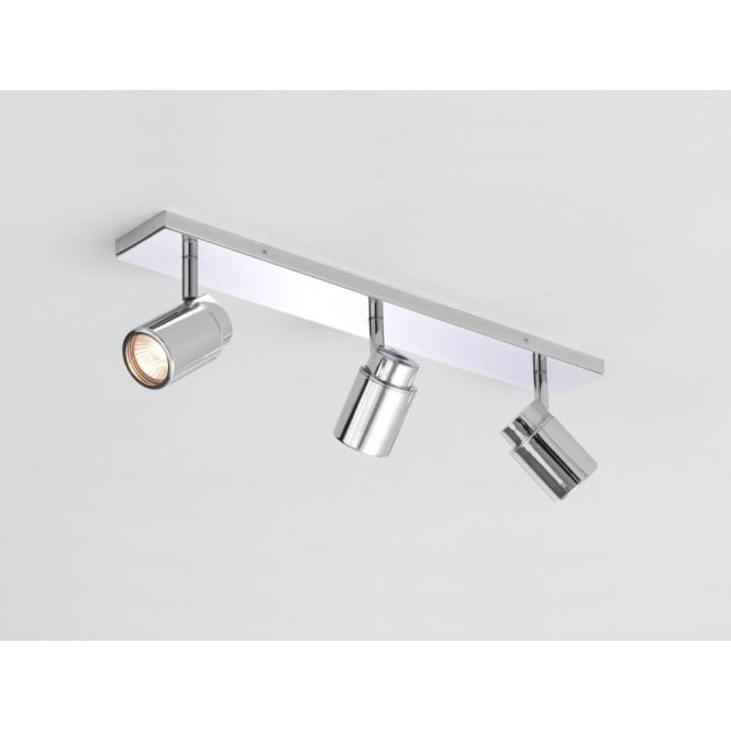 Astro Lighting Como Bathroom Triple Spotlight Bar in Polished Chrome Finish
