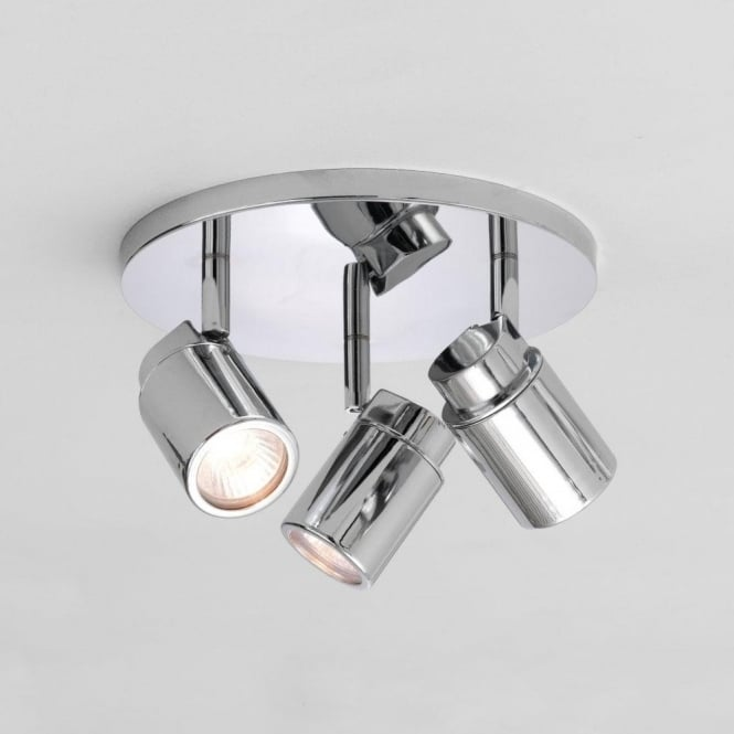Astro Lighting Como Triple Light Halogen Ceiling Fitting In Polished Chrome Finish