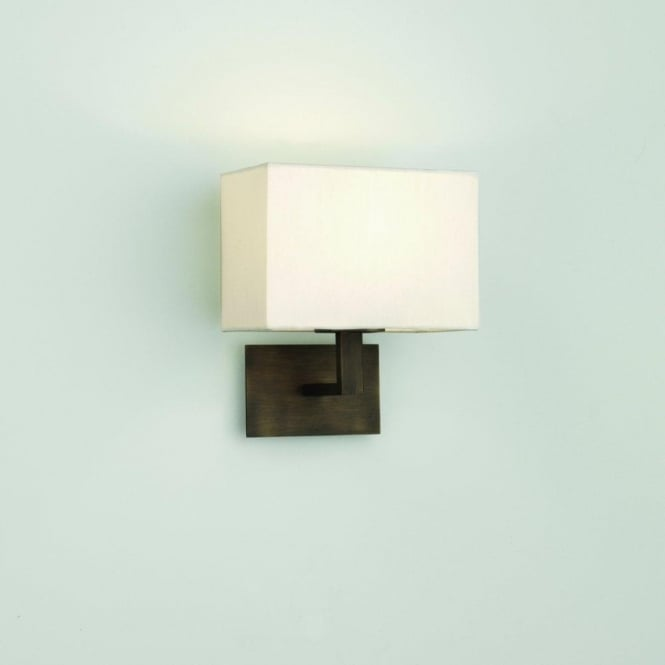 Astro Lighting Connaught Single Light Wall Fitting In Bronze Finish With White Shade