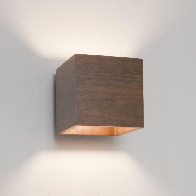 Astro Lighting Cremona Single Light Wall Fitting Walnut Wood Finish