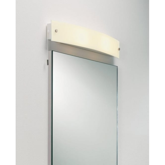 Astro Lighting Curve 2 Light Switched Bathroom Wall Fitting In Frosted White Glass Finish