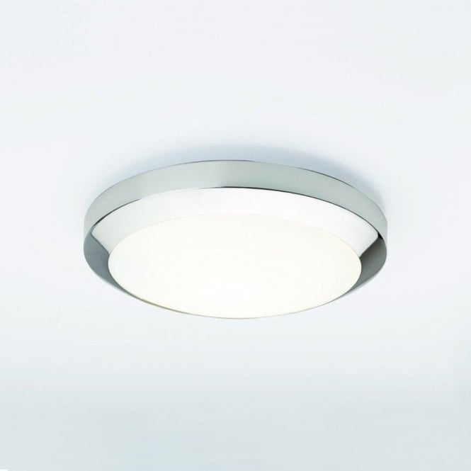 Astro Lighting Dakota 300 Single Light Bathroom Ceiling Fitting In Polished Chrome Finish