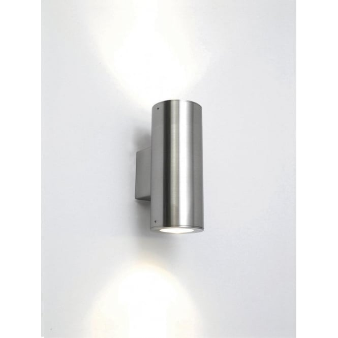 Astro Lighting Detroit 2 Light Outdoor Wall Fitting In Stainless Steel Finish