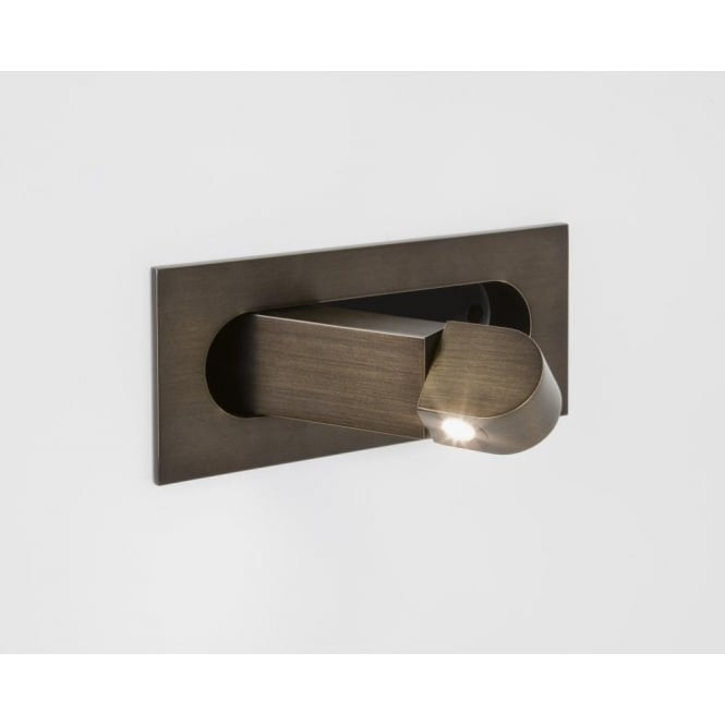 Astro Lighting Digit Single Light LED Switched Recessed Reading Light In Bronze Finish