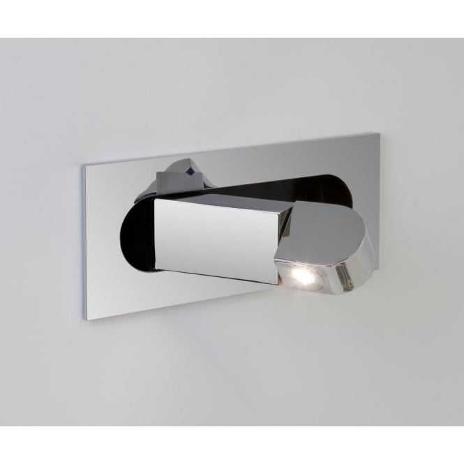 Astro Lighting Digit Single Light Switched LED Recessed Wall Fitting In Polished Chrome Finish