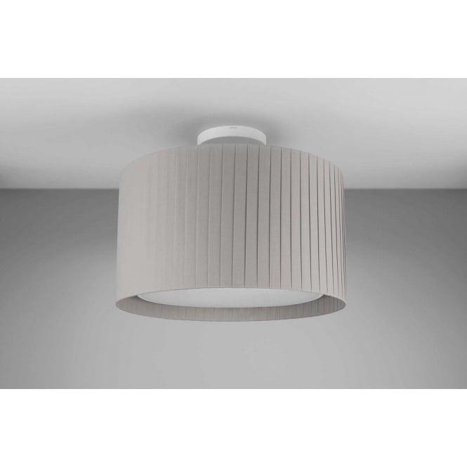 Astro Lighting Drum 400 Putty Pleated Shade For Use With Ceiling Pendants