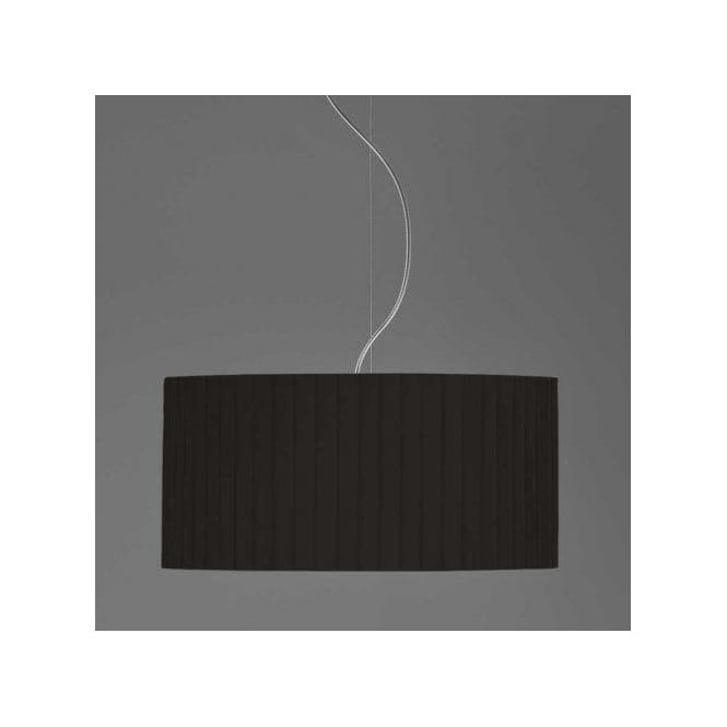 Astro Lighting Drum 500 Black Pleated Shade For Use With Ceiling Pendants