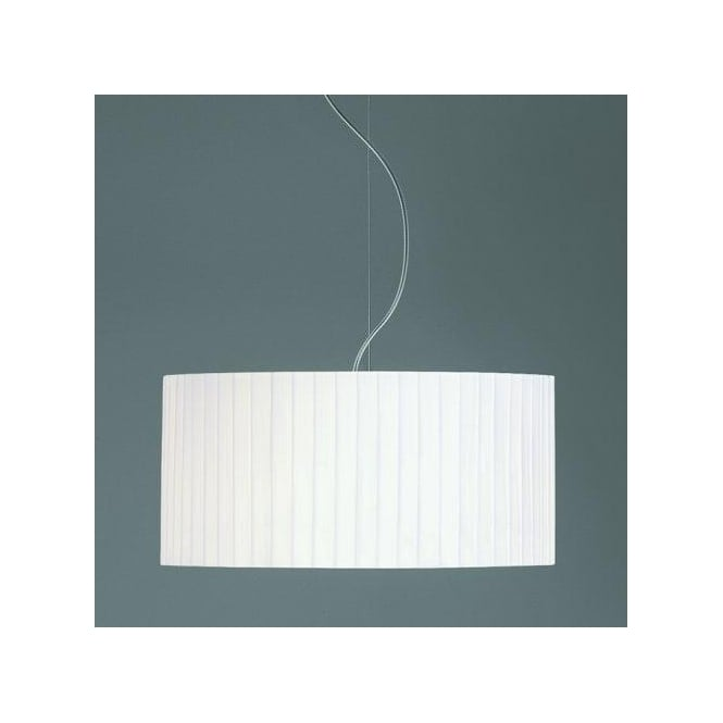 Astro Lighting Drum 500 White Pleated Shade For Use With Ceiling Pendants