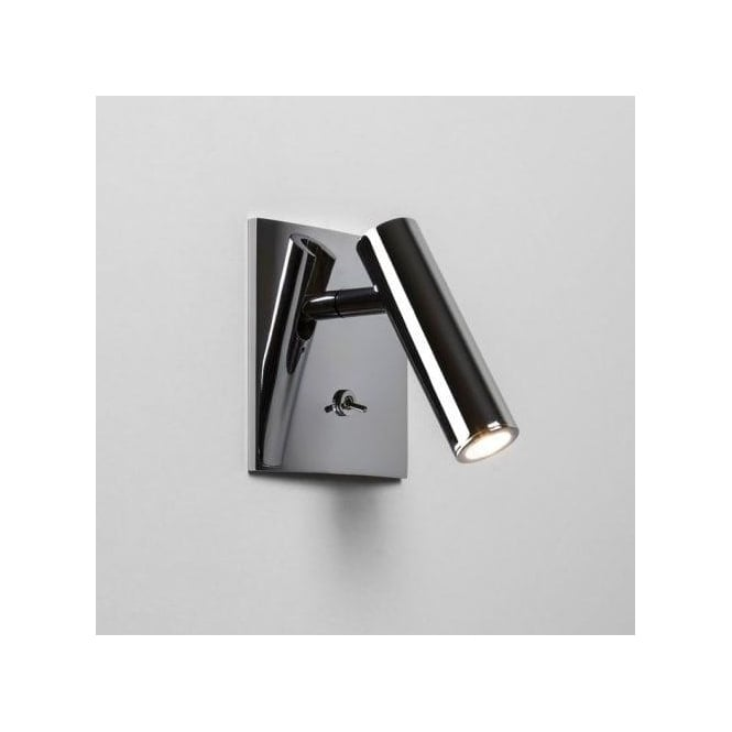 Astro Lighting Enna Single Light LED Switched Wall Fitting In Polished Chrome Finish