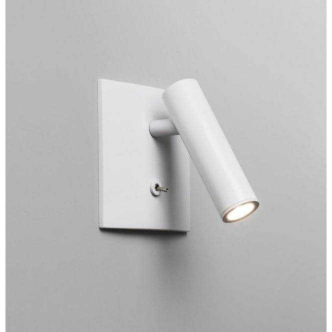 Astro Lighting Enna Single Light LED Switched Wall Fitting In White Finish