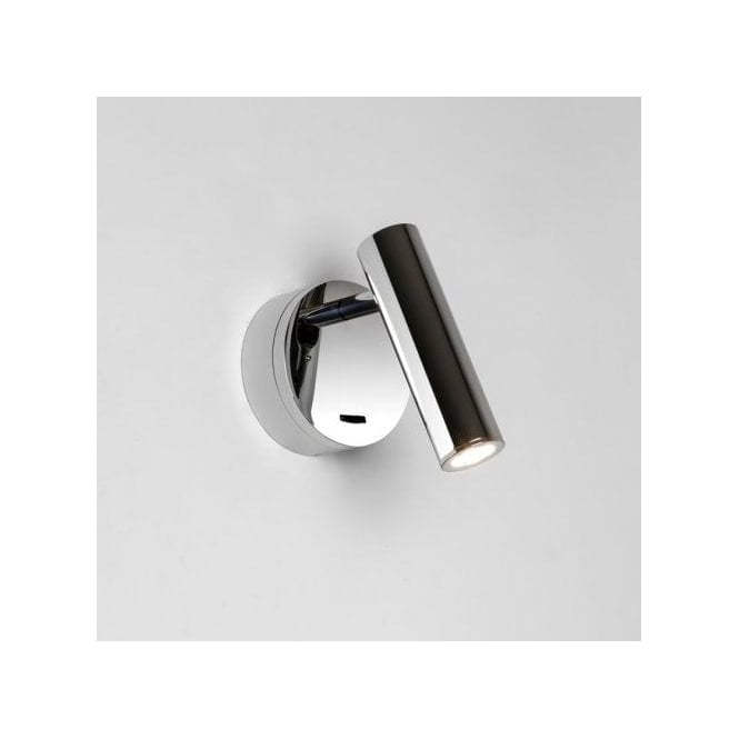 Astro Lighting Enna Surface Single Light LED Switched Wall Fitting In Polished Chrome Finish