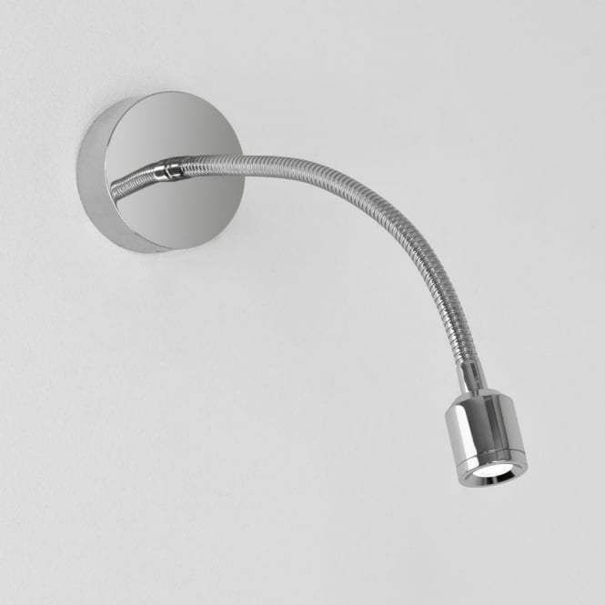 Astro Lighting Fosso Single Light LED Flexible Reading Light In Polished Chrome Finish