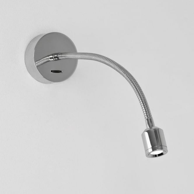 Astro Lighting Fosso Single Light Switched LED Flexible Reading Light In Polished Chrome Finish