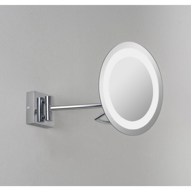 Astro Lighting Gena Plus Single Light Low Energy Magnifying Bathroom Mirror In Polished Chrome Finish