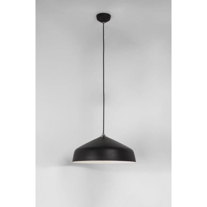Astro Lighting Ginestra 400 Single Light Ceiling Pendant In Black Finish